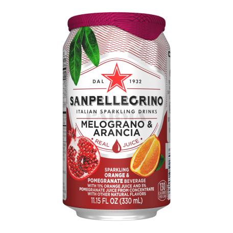 Զովացուցիչ ըմպելիք «San Pellegrino» նարինջ, նուռ 330մլ