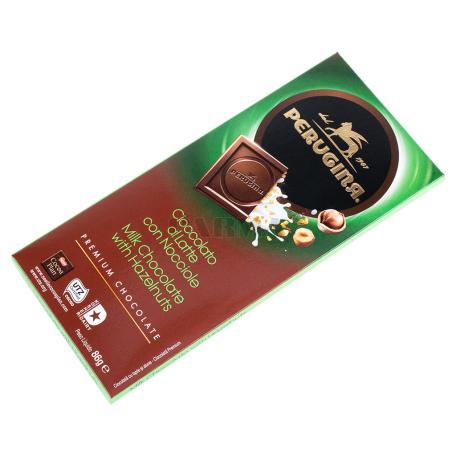 Շոկոլադե սալիկ «Perugina» կաթնային, կարամելացված պնդուկով 86գ