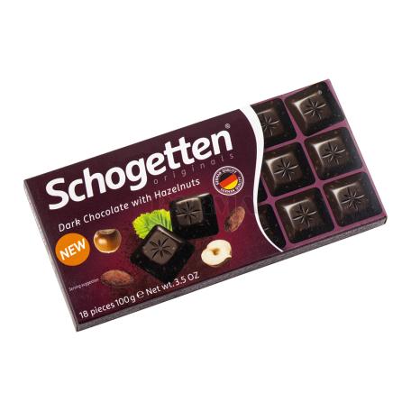 Շոկոլադե սալիկ «Schogetten» մուգ, անտառային ընկույզ 100գ
