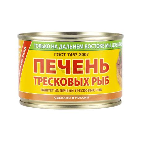 Պահածո ձկան «По мурманский» ձողաձկան լյարդ 240գ