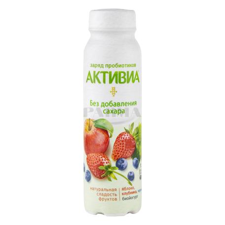 Բիոյոգուրտ ըմպելի «Danone Активия» խնձոր, ելակ, հապալաս 2% 260գ