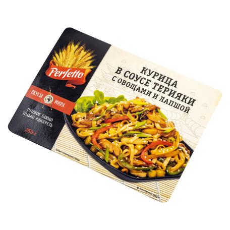 Հավ «Perfetto» տերիյակի սոուսում, բանջարեղենով, լապշայով 250գ