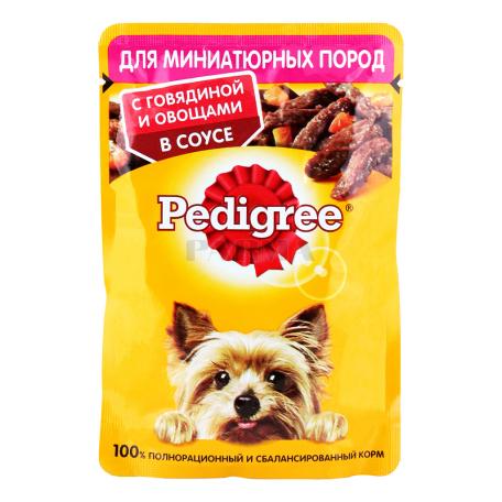 Շան խոնավ կեր «Pedigree» տավարի մսով, բանջարեղենով 85գ