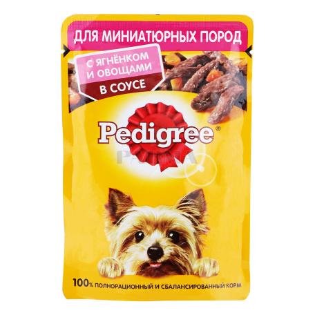 Շան խոնավ կեր «Pedigree» գառան մսով, բանջարեղենով 85գ