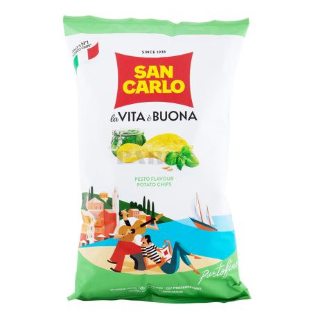 Չիպս «San Carlo Piu Gusto» սոուս պեստո 150գ