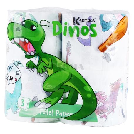 Զուգարանի թուղթ «Kartika Dinos» 4 հատ