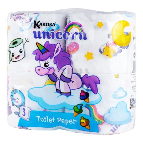 Զուգարանի թուղթ «Kartika Unicorn» 4 հատ