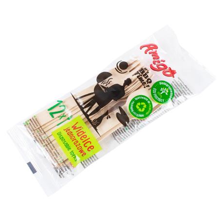 Մեկանգամյա օգտագործման պատառաքաղներ «Amigo» 12հատ