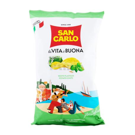 Չիպս «San Carlo Piu Gusto» սոուս պեստո 50գ