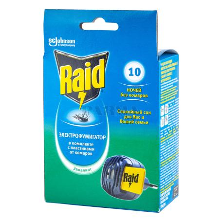 Ֆումիգատոր սարք «Raid» 10 գիշեր