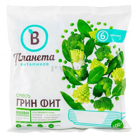 Բանջարեղենային խառնուրդ «Планета Витаминов» գրին ֆիթ, սառեցված 400գ