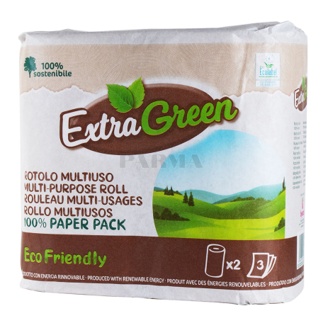 Թղթե սրբիչ «ExtraGreen Eco Friendly» 2 հատ