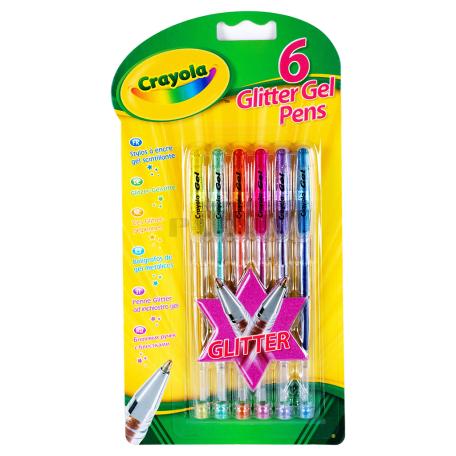 Գրիչներ «Crayola» գելային 6հատ