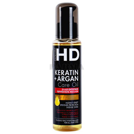 Յուղ մազերի «HD Keratin+ Argan» 100մլ