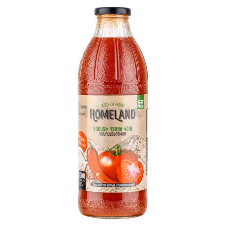 Հյութ բնական «Homeland» տոմատ, կծու 1լ