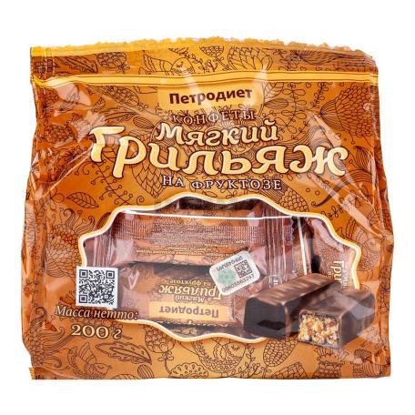 Շոկոլադե կոնֆետներ «Петродиет» փափուկ գրիլյաժ 200գ