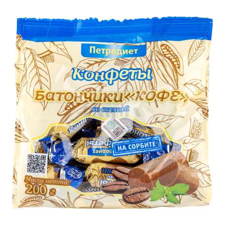 Շոկոլադե կոնֆետներ «Петродиет» սուրճով, ստեվիայով 200գ