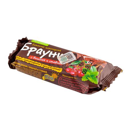 Բատոն «Петродиет Брауни» շոկոլադե, բալ, ստեվիա 50գ