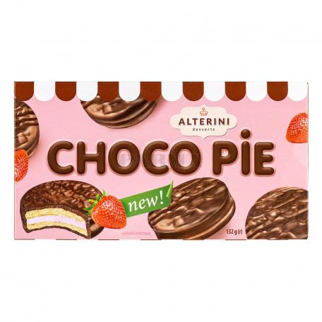 Թխվածքաբլիթ «Alterini Desserts Choco Pie» ելակ 132գ
