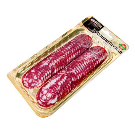 Колбаса `Егорьевская` брауншвейгская, сырокопченая 100г