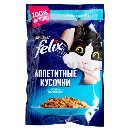 Կատվի կեր «Felix» իշխանով, ժելեում 85գ