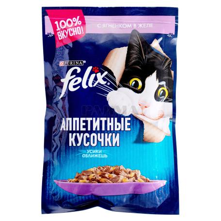 Կատվի կեր «Felix» գառան մսով, ժելեում 85գ