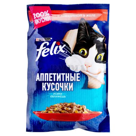 Կատվի կեր «Felix» տավարի մսով, ժելեում 85գ