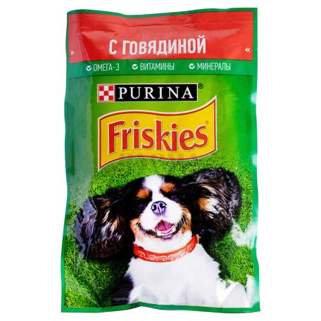 Շան կեր «Friskies» տավարի մսով 85գ