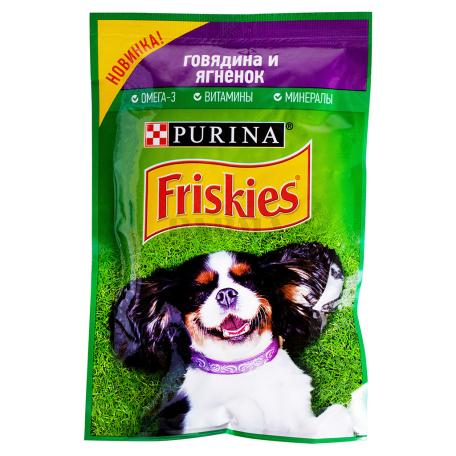 Շան կեր «Friskies» տավարի, գառան մսով 85գ