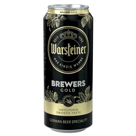 Գարեջուր «Warsteiner Brewers Gold» կիսամուգ 500մլ