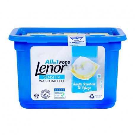 Հեղուկ լվացքի «Lenor Sensitive» 363գ