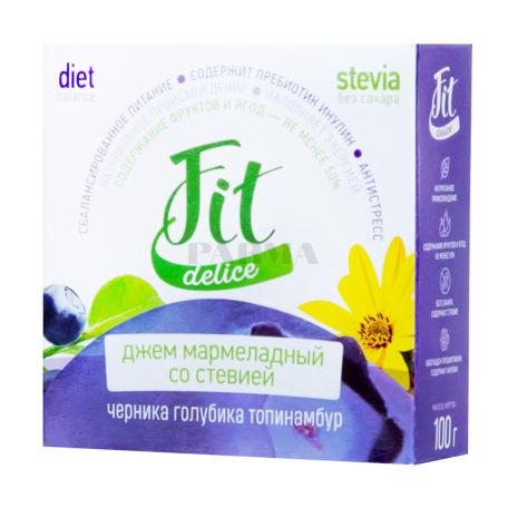 Ջեմ «Fit Delice» մարմելադային, հապալաս, կապույտ հապալաս, գետնախնձոր 100գ