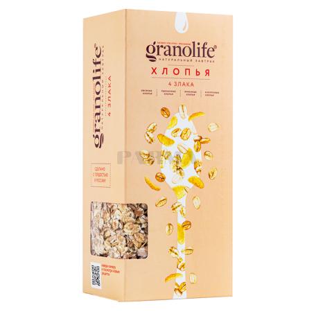 Փաթիլներ «Granolife» 4 հացահատիկ 400գ
