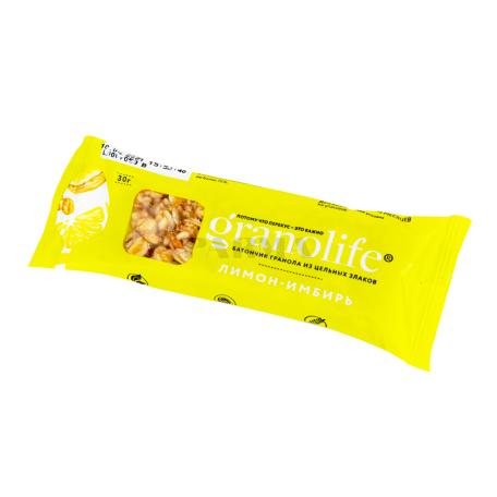 Բատոն-գրանոլա «Granolife» կիտրոն, կոճապղպեղ 30գ