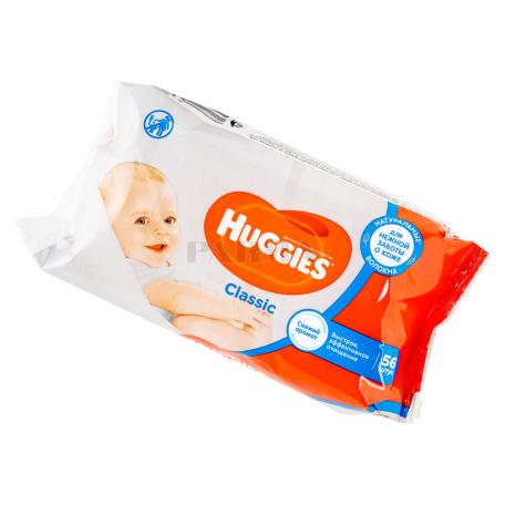 Անձեռոցիկ խոնավ «Huggies Classic» մանկական