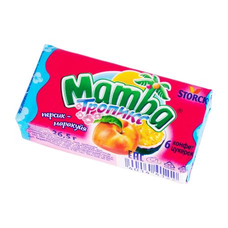 Կոնֆետ «Mamba Тропикс» դեղձ, մարակույա 26.5գ