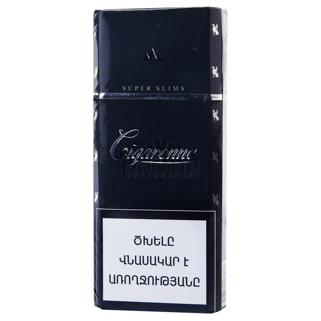 Сигареты cigaronne super slims black купить купить машинки для забивания сигарет