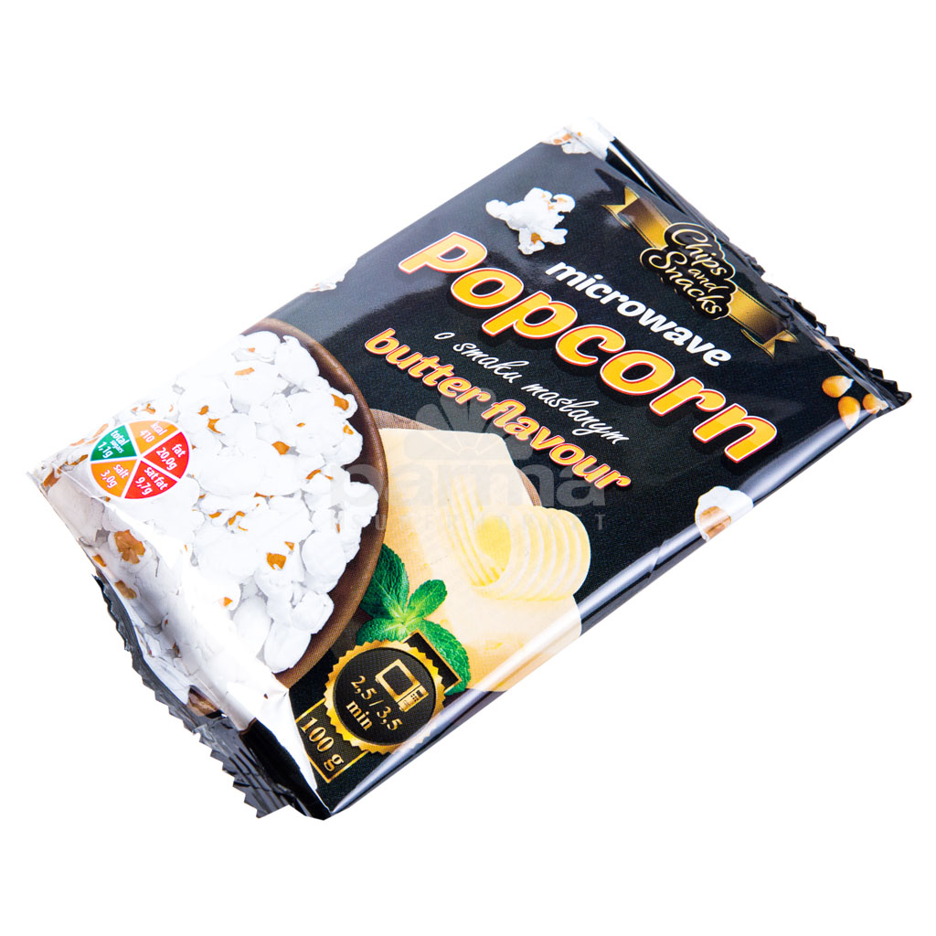 Popcorn Chips And Snacks Butter 100g