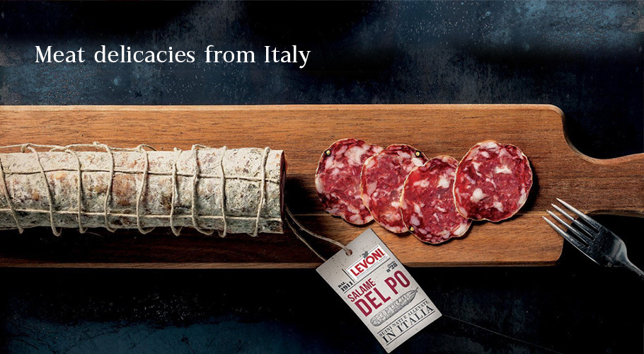 Meat delicacies from Italy
